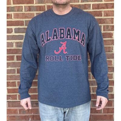 L/S Bama Field Grey Shirt