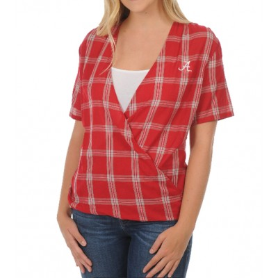 Bama Plaid Wrap Top