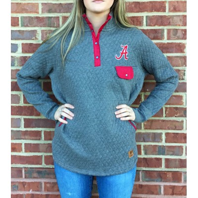Bama Grey Quilted Pullover