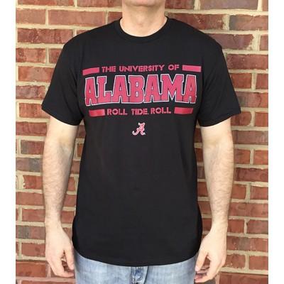 Alabama Bars Black Shirt