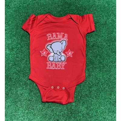 Bama Baby Red Onesie