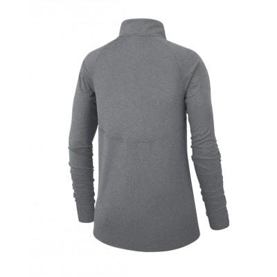 Grey Ladies Zip Pullover