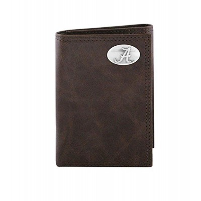 AL Brown Tri-Fold Wallet