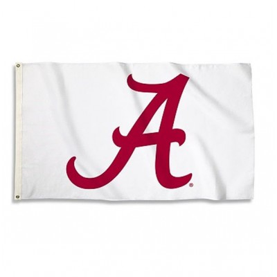 Bama White 3'x5' Flag