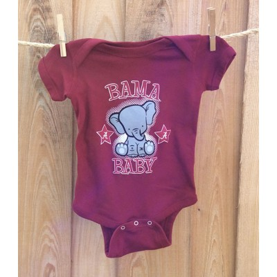 Bama Baby Red Onesie