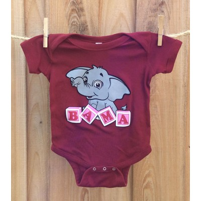 Bama Blocks Red Onesie