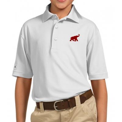 Bama White Youth Polo