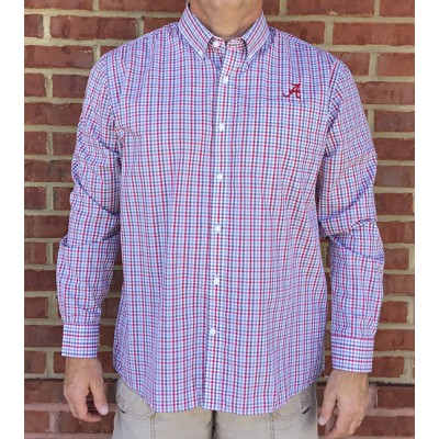AL Gingham Cutter & Buck