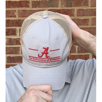 Grey Bar Logo Trucker