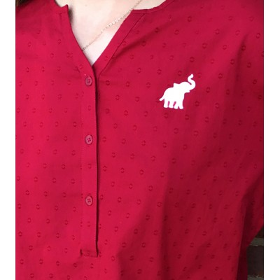 AL Dot Crimson Top