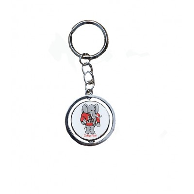 Standing Elephant Spin Keychain