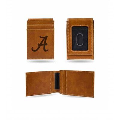 AL Tan Front Pocket Wallet