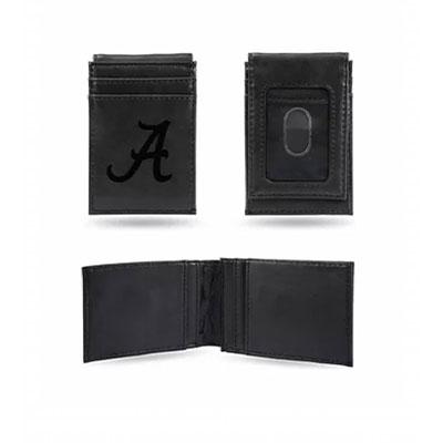 AL Black Front Pocket Wallet